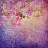 绘画样式花卉艺术 库存例证
