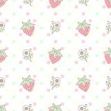样式草莓花柔和的淡色彩 免版税库存图片