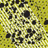 样式设计的杂文趋向的例证 与白色带的灰色浪花在黄色背景 葡萄酒的背景 免版税库存图片