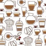 样式集合收藏玻璃瓶子咖啡饮料象 免版税图库摄影