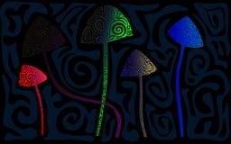样式魔术蘑菇 免版税图库摄影
