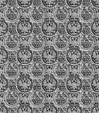 样式-在黑白的俄国苏联小铜板 免版税库存图片