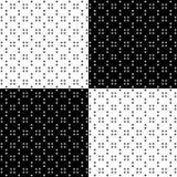 样式-在黑白的棋子 免版税库存照片