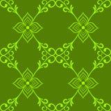 样式绿色抽象图表花墙纸 免版税库存图片