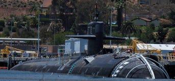 核动力潜水艇--U S 海军 库存图片
