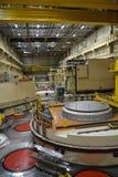 核反应堆大厅在能源厂 免版税库存照片