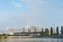 核发电站大厦 图库摄影
