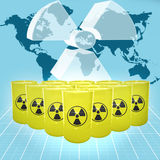 核威胁 免版税库存照片