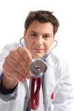核对医疗医生的检查 免版税库存照片