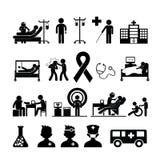 核对医疗在医院 免版税库存图片