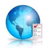 核对清单世界 免版税图库摄影