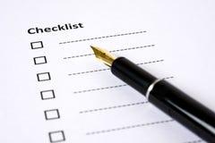 核对清单被装载的准备好 免版税库存图片