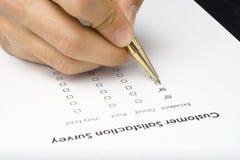 核对清单质量调查表服务 免版税图库摄影