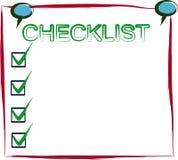 核对清单过帐 向量例证