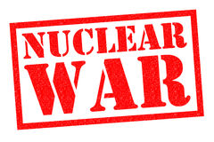 核战争不加考虑表赞同的人 免版税库存照片