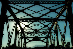 核桃在老路线66的峡谷桥梁 免版税库存照片