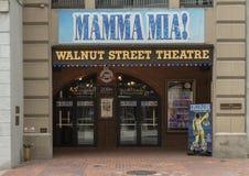 核桃街道剧院,美国` s最旧的剧院,费城宾夕法尼亚 免版税库存照片