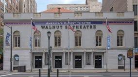 核桃街道剧院,美国` s最旧的剧院,费城宾夕法尼亚 库存照片