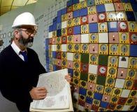 核电站控制室 免版税库存照片