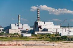 核电站的大厦和居住单位 免版税库存照片