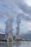 核电站隆河,克吕阿,法国 免版税库存图片