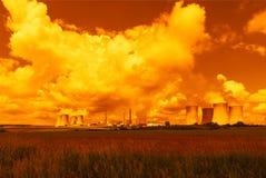 核电站Dukovany在捷克欧洲 库存图片