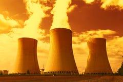 核电站Dukovany在捷克欧洲 库存照片