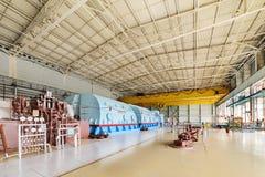 核能蒸汽机的室  免版税库存图片
