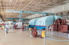 核能蒸汽机的室  库存照片