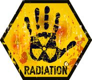 核辐射 向量例证