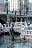 根据俄国民间传说的雕刻的构成在莫斯科亚历山大公园  库存图片