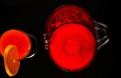 根据堪蓓莉开胃酒利口酒和橙汁的鸡尾酒,著名Itali 免版税库存图片