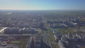 根据太阳的城市 阿斯塔纳鸟瞰图 股票视频