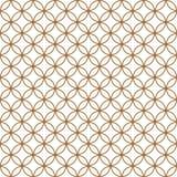 根据日本装饰品的无缝的样式久美子 金黄颜色 库存图片