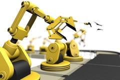 根据机器人胳膊的生产 免版税图库摄影