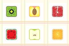 根据纹理的方形的果子 图库摄影