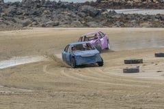 根西岛沙子赛跑 免版税库存图片