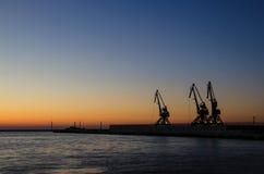 格丁尼亚海港在黎明 图库摄影