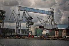 格丁尼亚造船厂 库存照片