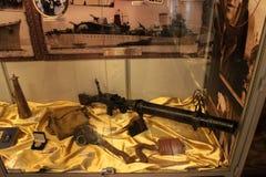 格丁尼亚,波兰- 2014年5月4日:内部波兰军舰博物馆战舰驱逐舰 免版税库存图片