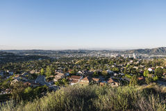 格伦代尔加利福尼亚早晨视图 免版税库存图片