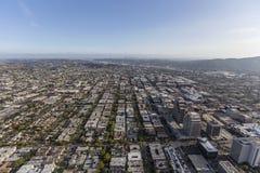 格伦代尔加利福尼亚鸟瞰图  免版税库存图片