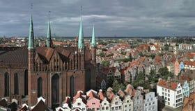 格但斯克全景波兰视图 免版税库存照片
