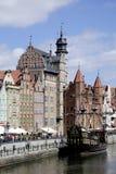 格但斯克历史的老镇在波兰 免版税图库摄影