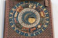 格但斯克天文学时钟特写镜头在格但斯克 免版税库存图片