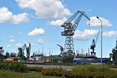 格但斯克港口 库存照片