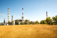 格但斯克炼油厂 库存照片