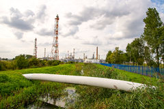 格但斯克炼油厂 库存图片