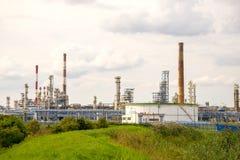 格但斯克炼油厂 免版税库存照片