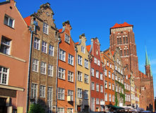 格但斯克老城镇,波兰 免版税图库摄影